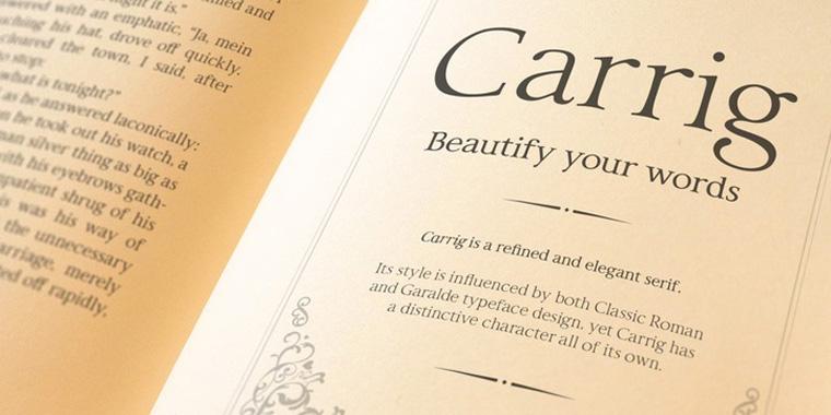 Carrig Roman Beautiful Sample