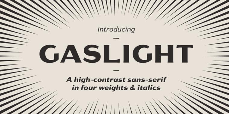 Gaslight Black精美样张