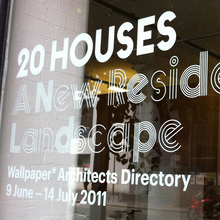 20 Houses. A New Residential Landscape exhibition, Wallpaper* Architects Directory