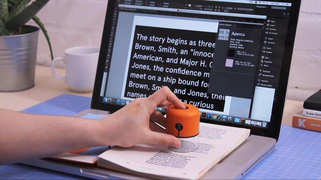 大学生发明创意小装置 可捕捉字体和颜色