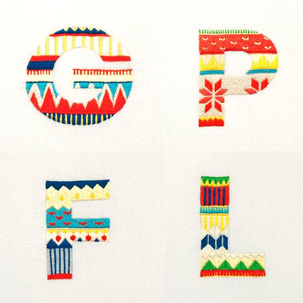 当手工刺绣遇到字体设计和插画