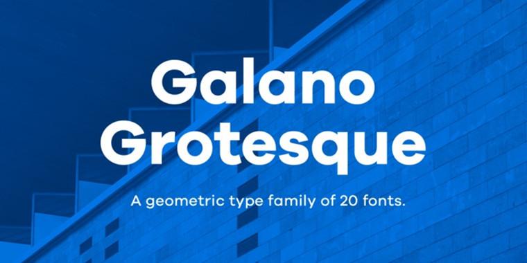 Galano Grotesque精美样张