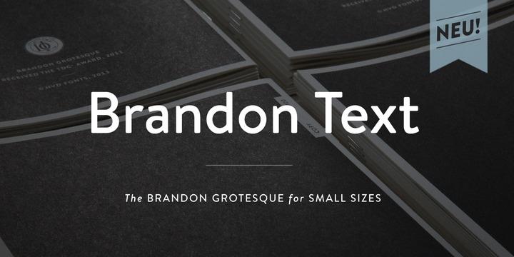 Brandon Text精美样张