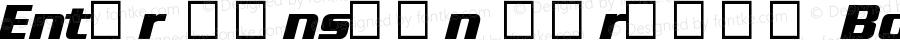 Enter Sansman (Trial) Bold Italic 1.02 - TRIAL -