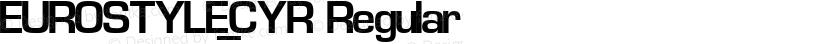 EUROSTYLE_CYR Regular Preview Image
