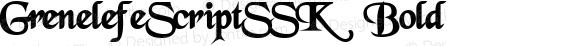 GrenelefeScriptSSK Bold preview image