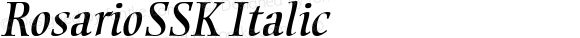 RosarioSSK Italic Macromedia Fontographer 4.1 8/13/95