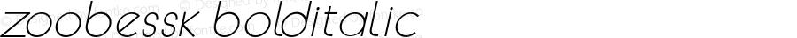 ZoobeSSK BoldItalic Macromedia Fontographer 4.1 8/14/95