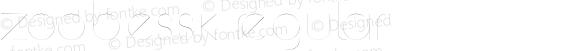 ZoobeSSK Regular Macromedia Fontographer 4.1 8/14/95
