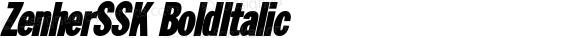 ZenherSSK BoldItalic Macromedia Fontographer 4.1 8/14/95