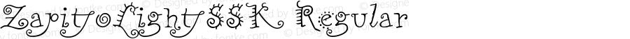 ZapitoLightSSK Regular Macromedia Fontographer 4.1 8/14/95