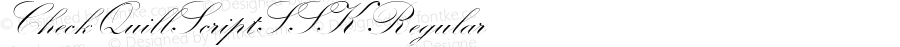 CheckQuillScriptSSK Regular Macromedia Fontographer 4.1 8/16/95