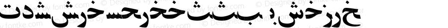 PersianZibaSSK Italic Macromedia Fontographer 4.1 8/15/95
