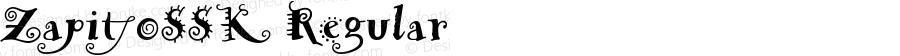 ZapitoSSK Regular Macromedia Fontographer 4.1 8/14/95