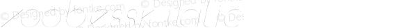 ZoobeSSK Italic Macromedia Fontographer 4.1 8/14/95