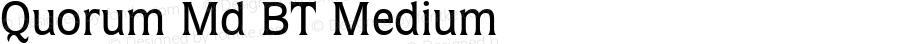 Quorum Md BT Medium mfgpctt-v4.4 Jan 1 1999