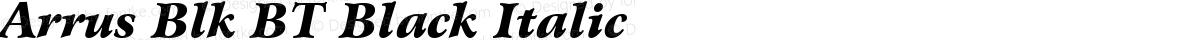Arrus Blk BT Black Italic