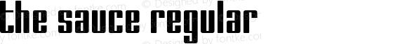 The Sauce Regular Fontographer 4.1 9/19/98
