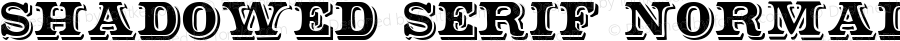 Shadowed Serif Normal 1.0 Sun Jan 09 19:07:17 1994