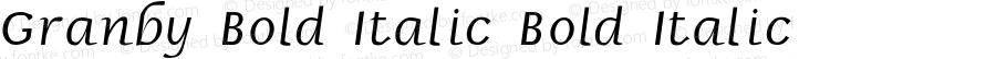 Granby Bold Italic Bold Italic Unknown