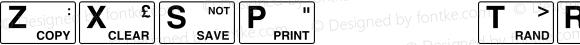 ZXSpectrum Regular Macromedia Fontographer 4.1.2 16/4/98