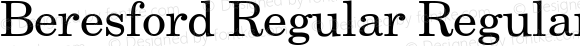 Beresford Regular Regular Unknown