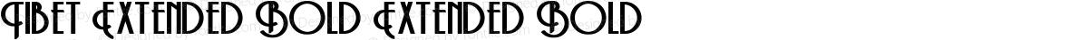 Tibet Extended Bold Extended Bold