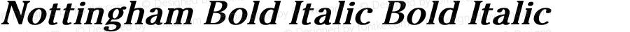 Nottingham Bold Italic Bold Italic Unknown