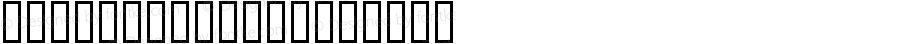 Bokutoh99UH Regular Macromedia Fontographer 4.1 99/01/12