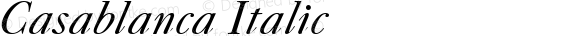 Casablanca Italic