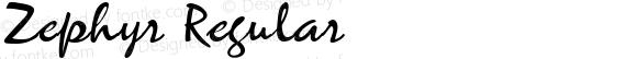 Zephyr Regular Altsys Fontographer 3.5  20.01.1995