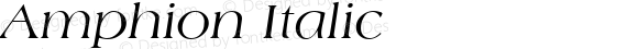 Amphion Italic WSI:  11/27/92