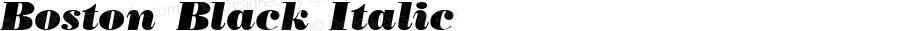 Boston Black Italic WSI:  11/27/92