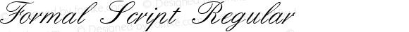 Formal Script Regular