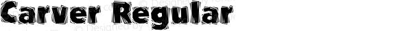 Carver Regular Altsys Fontographer 3.5  03/08/94
