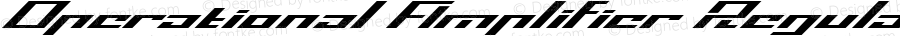 Operational Amplifier Regular Version 1.00