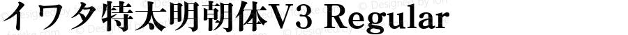 イワタ特太明朝体V3 Regular Version 001.001