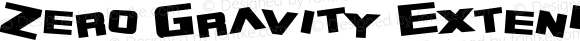 Zero Gravity Extended Bold Macromedia Fontographer 4.1 2/10/99