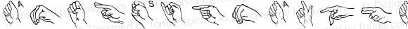 AmerSignAlpha Regular Macromedia Fontographer 4.1.3 3/25/97