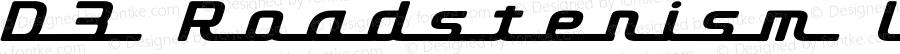 D3 Roadsterism Long Italic Regular 1.0