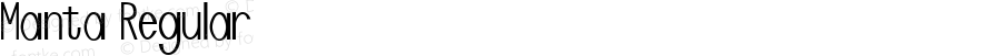 Manta Regular Macromedia Fontographer 4.1.3 2/23/98