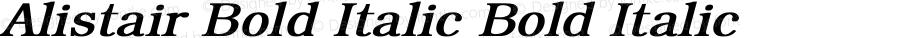 Alistair Bold Italic Bold Italic Unknown