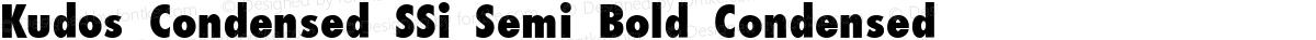 Kudos Condensed SSi Semi Bold Condensed