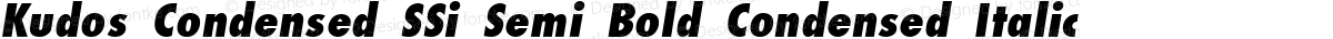 Kudos Condensed SSi Semi Bold Condensed Italic