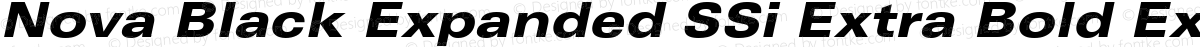 Nova Black Expanded SSi Extra Bold Expanded Italic