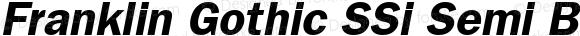Franklin Gothic SSi Semi Bold Italic