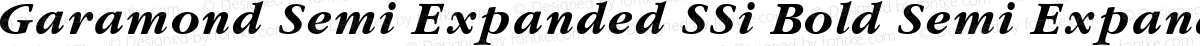 Garamond Semi Expanded SSi Bold Semi Expanded Italic