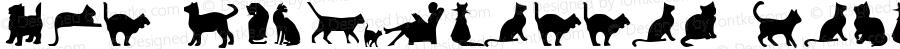 Cat Silhouettes Regular Macromedia Fontographer 4.1 3/1/98