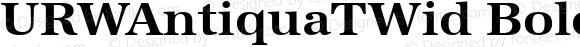 URWAntiquaTWid Bold Version 001.005