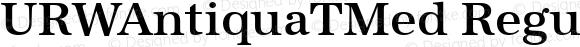 URWAntiquaTMed Regular Version 001.005